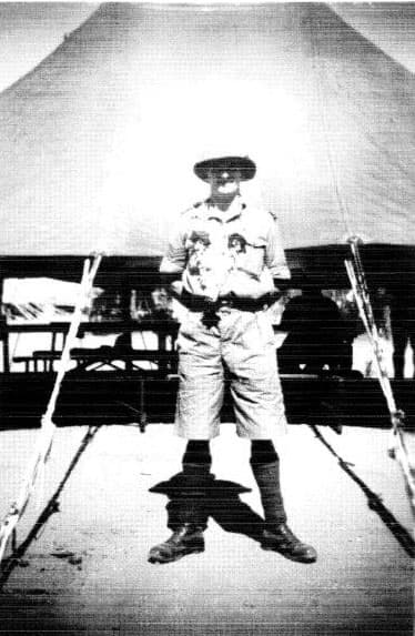 Harry Stogden on his way to Singapore. The photograph is probably taken in Bombay.